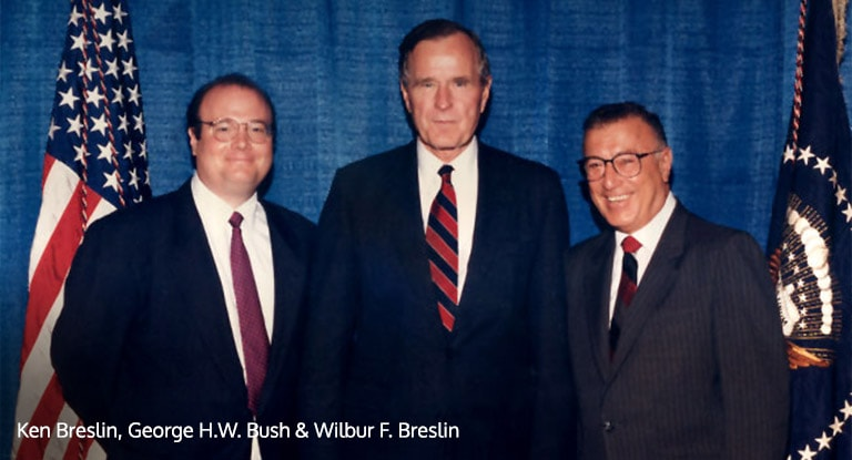 Ken Breslin, George H.W. Bush & Wilbur F. Breslin