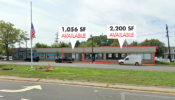 1,056 & 2,200 SF Retail Space For Lease